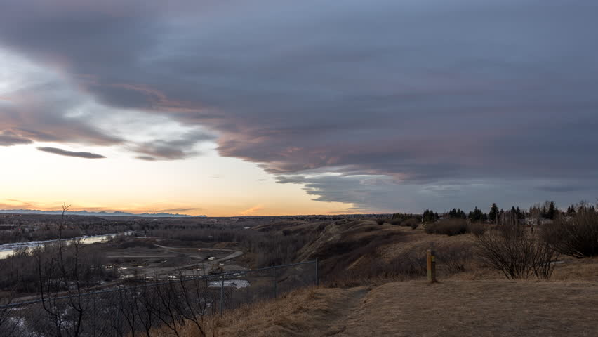 Chinook arch clouds at sunset