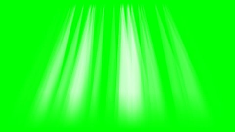 Rays of lights on green screen background animation. Beams light footage 4k video.