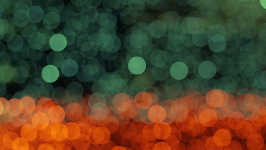 Night abstract background is defocused with nice bokeh. Blurred Christmas Lights Bokeh. Pan across blur .