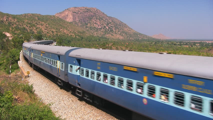 Indian Railway Stock Video Footage