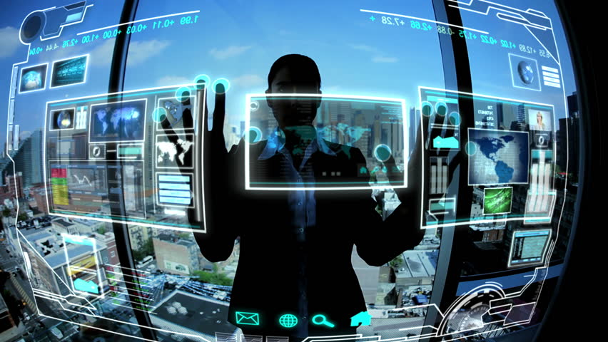 Montage images business touch screen technology | Shutterstock Video #3325052