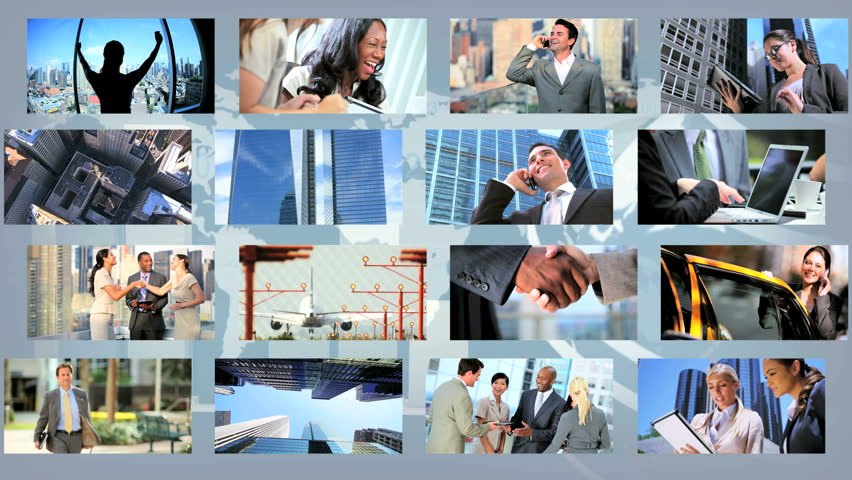 Montage images ambitious young business people CG images modern global communication | Shutterstock HD Video #3326024