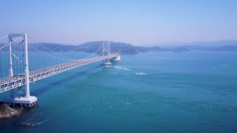 Aerial Tide Shift At Naruto Strait, Japan