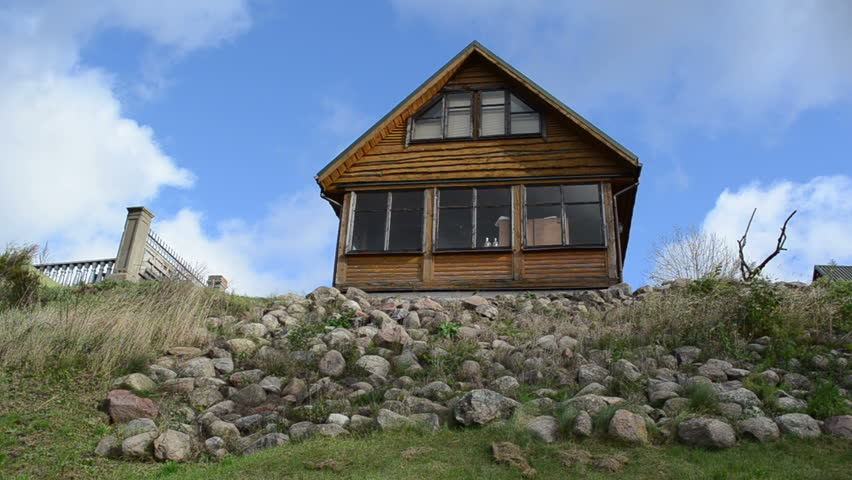 Rural Wooden Summer House On Stock Footage Video 100 - 100-wood-and-stone-house