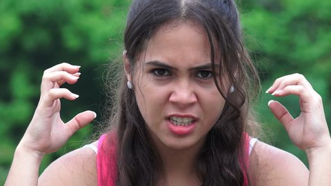 Angry Female Teen