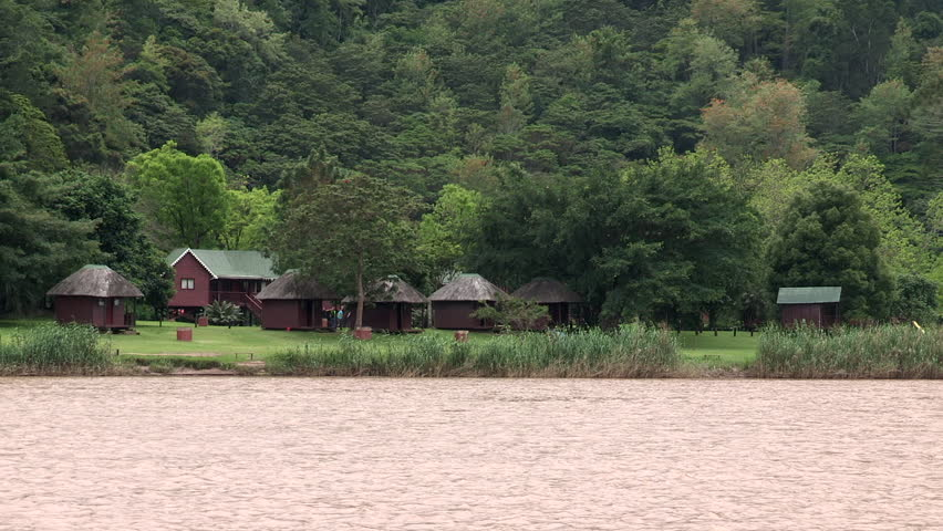 Accommodation along the Umzimvubu river near Port St Johns.