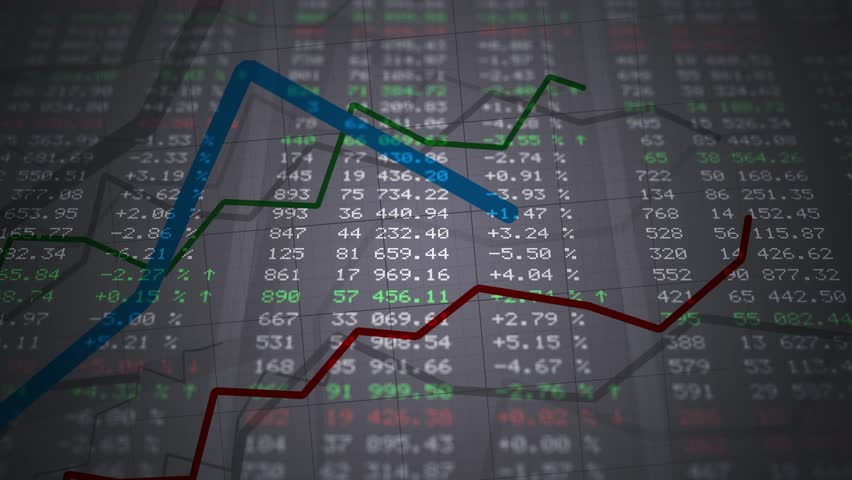 Stock market board. Data and numbers changing. Looped animation. | Shutterstock HD Video #33367009