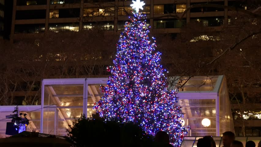 Bryant Park Christmas.New York Ny December 2017 Stock Footage Video 100 Royalty Free 33425314 Shutterstock
