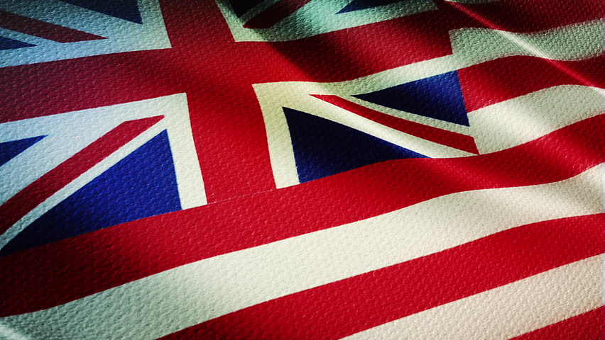 Hawaii Country flag animation stock footage. Hawaii Country flag animation waving in the breeze with cotton texture and in close up.