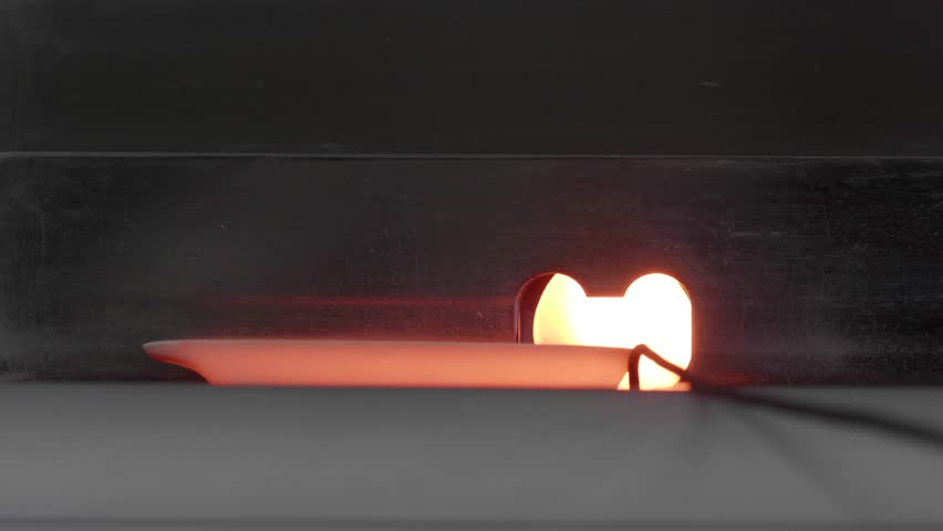 Hot ceramic laboratory crucible out of carbon furnace