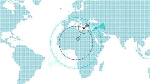4k Global GPS data detect earth map military radar GPS navigation interface. 8120_4k