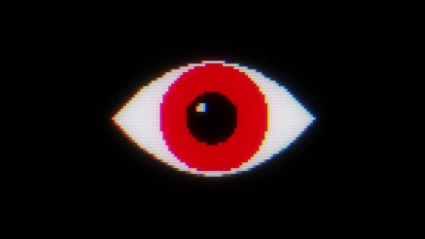 Red Eyes Blink Stock Footage Video 3214015 Shutterstock
