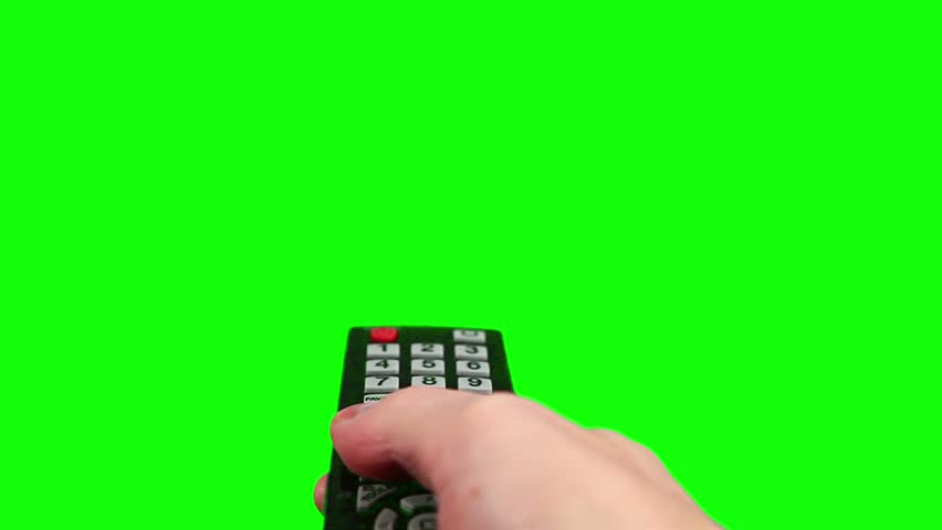 Surfing television channels green screen  #3353684