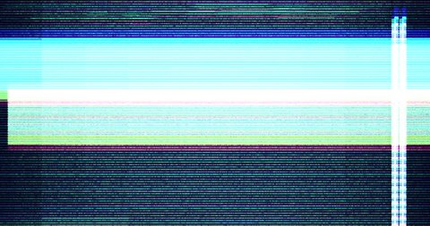 colorful vhs glitch background realistic flickering, analog vintage TV signal with bad interference, static noise background, overlay ready