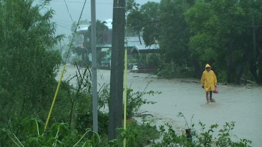 Flash Flooding In Aftermath of Hurricane.