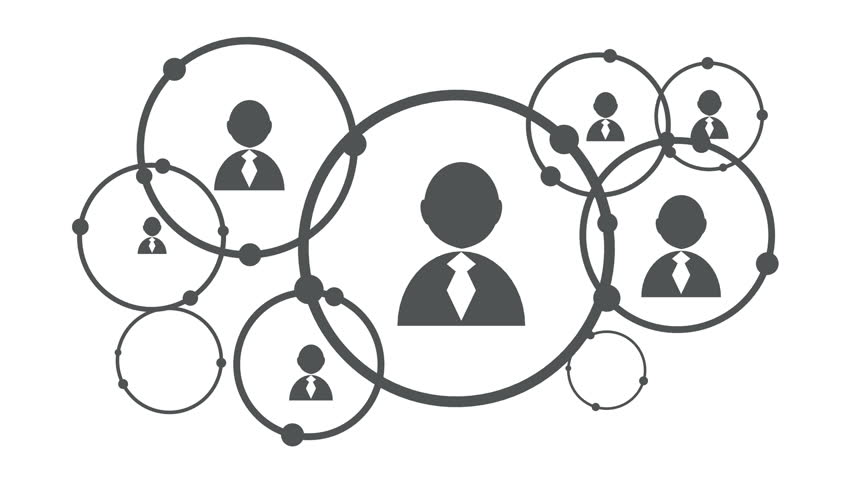 Social Media Network Growth Background With Circles And Integrate