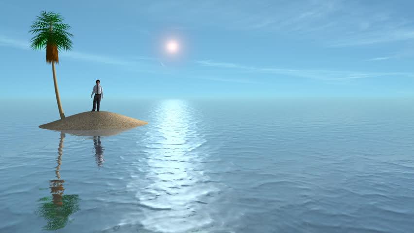 alone on a desert island
