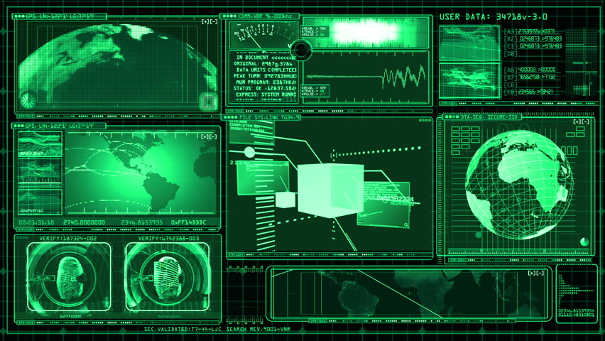 Technology Interface Computer Data Screen GUI | Shutterstock HD Video #3366104