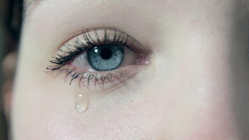 Tears in a female girl sad eye in 1080p | Shutterstock HD Video #3367604