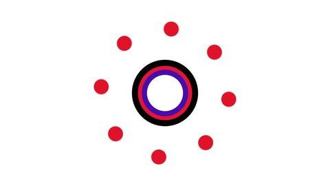 Cartoon title loading screen. Loader : spinner a rotating Sweet Cute Candy fantasy cartoon circle. Seamless loop Preload Buffering Endless rotate circle shape in 4K HD animation.