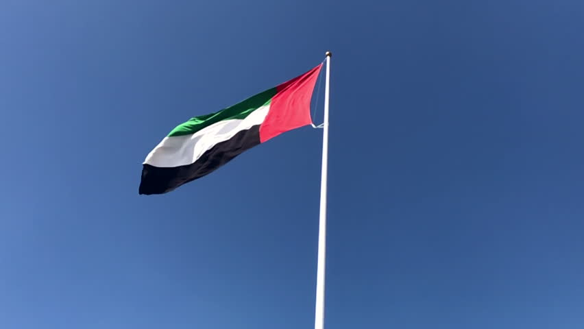 UAE flag moving in the sky in slow motion | Shutterstock HD Video #33706024
