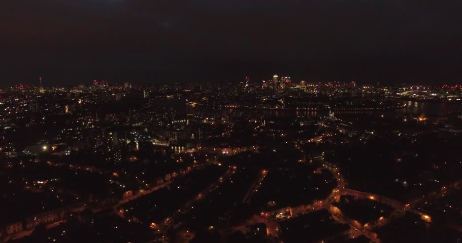4k Drone shoot over London at night   Shutterstock HD Video #33724144