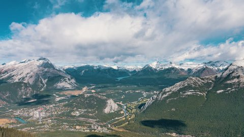 4K Timelapse Sequence of Banff, Canada - Banff Gondola