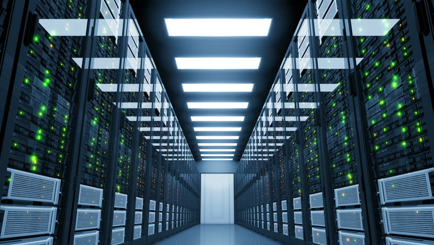 Critical Blackout in Server Room. Electricity Failure in Modern Data Center Cloud Computing.  4k Ultra HD. | Shutterstock HD Video #33831364