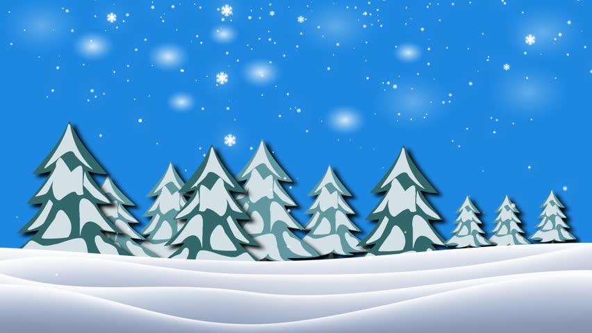 stock video of cartoon winter snow scene looping background 844486 rh shutterstock com cartoon winter forest scene cartoon winter forest scene