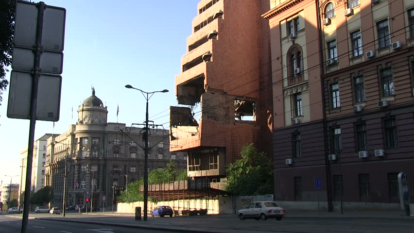 destroyed Ministry of Defence in Belgrade, Ministry of Defence in Serbia, Belgrade was in 1999 attacked by Cruise Missiles from the NATO,