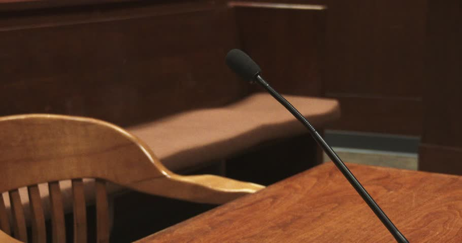 Microphone In Courtroom   Shutterstock HD Video #33990094