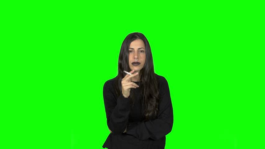 Smoking petnastic girl | Shutterstock HD Video #34049164