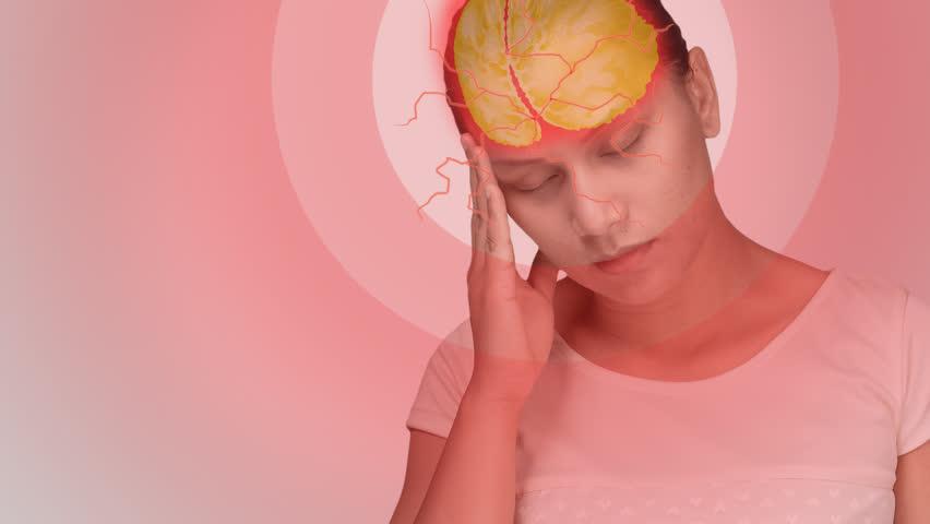 Footage showing women's headaches, stress,Headache from the flu, migraine | Shutterstock HD Video #34068724