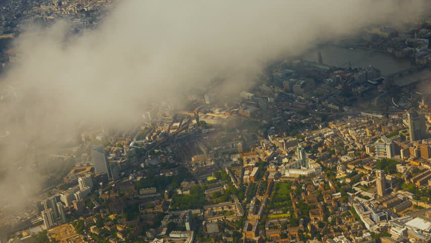 London from above - An aerial view of the Central London area, the City and the Thames in London, England, UK | Shutterstock HD Video #34135924