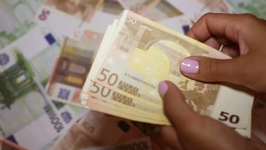 European currency in female hands   Shutterstock HD Video #34147324