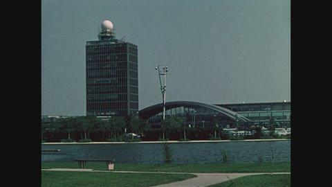 NEW YORK, 1971, John F. Kennedy International Airport, JFK, Control Tower and International Arrivals