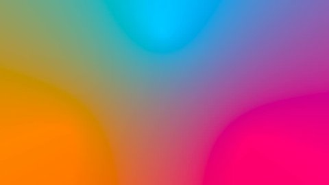 Multicolored motion gradient background. Seamless loop