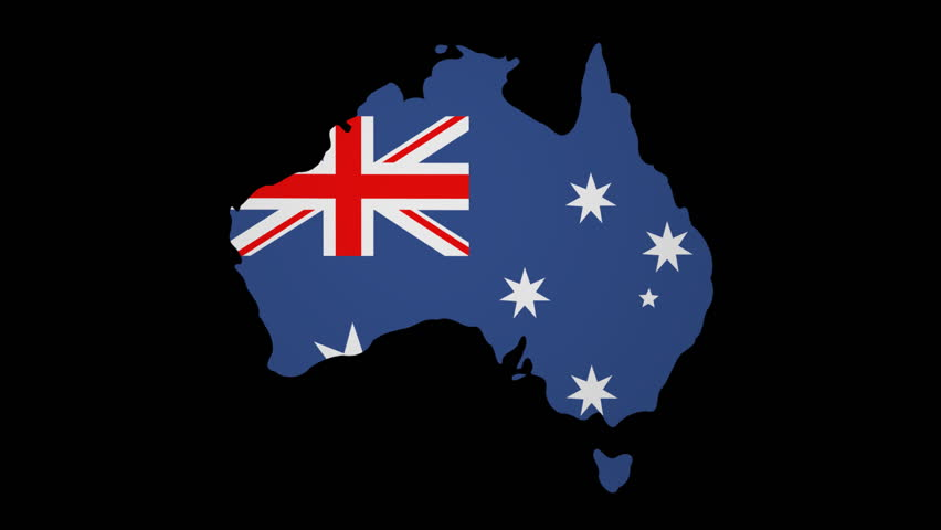 Australia Map With Flag.Fluttering Australia Map Flag Animation Stock Footage Video 100 Royalty Free 3421154 Shutterstock