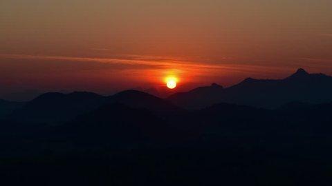 Panorama view sunrise at Phu Luang , Loei Province , Thailand