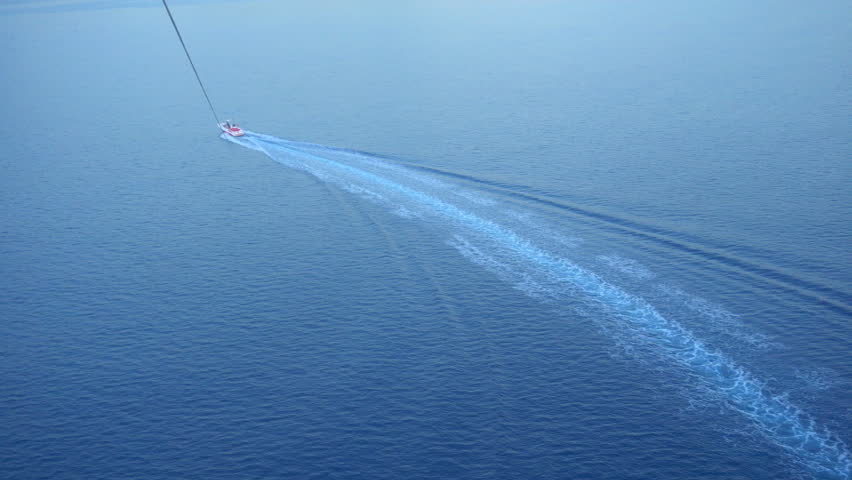 Parasailing above the Mediterranean sea. | Shutterstock HD Video #34373044