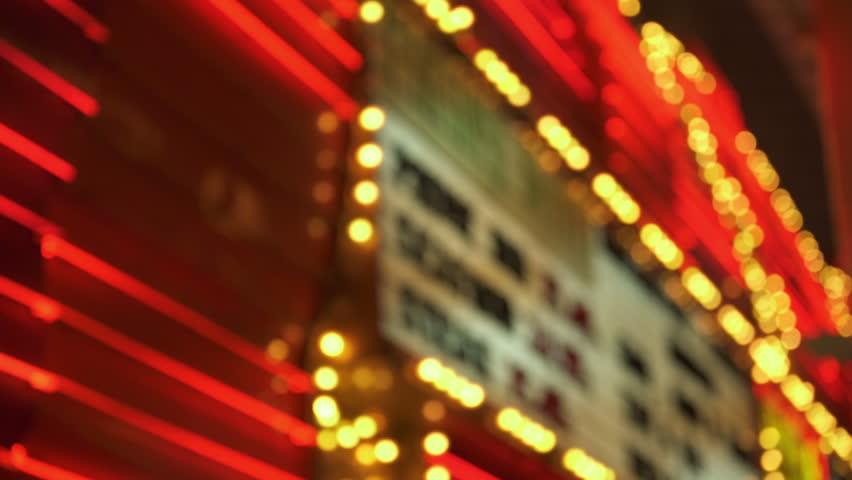 Las Vegas Casino Neon Signs Closeup