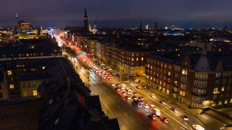 Aerial view of Copenhagen, Denmark - UltraHD Time Lapse