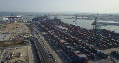 Aerial View of port, Container Terminal 01