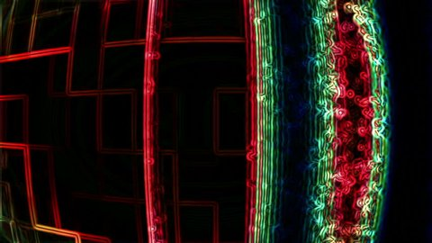 Video Background: Abstract data forms flicker, ripple and pulse (Loop).
