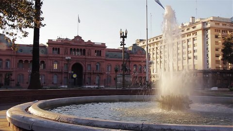 The Casa Rosada, in Plaza de Mayo Square, Buenos Aires (Argentina).