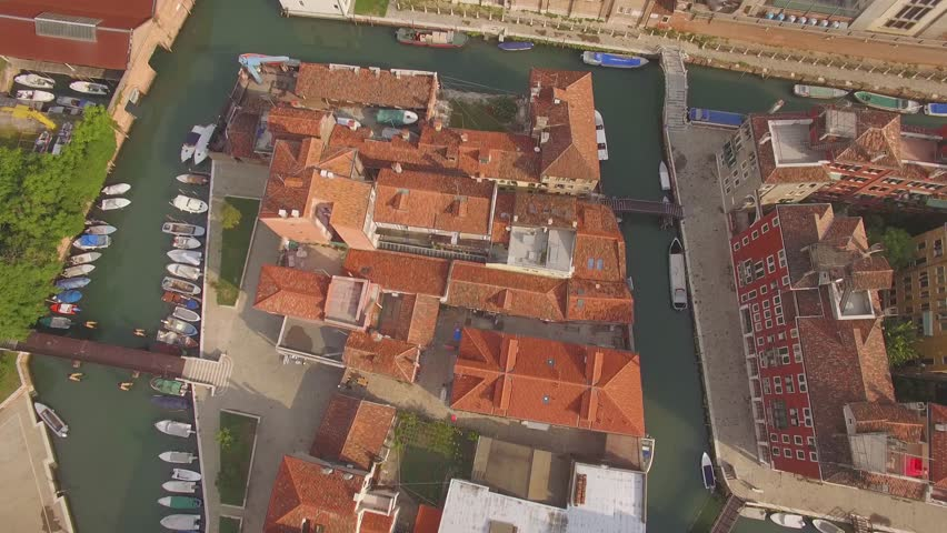 Venice, ITALY 2015: Aerial View of Grand Canal  | Shutterstock HD Video #34605604