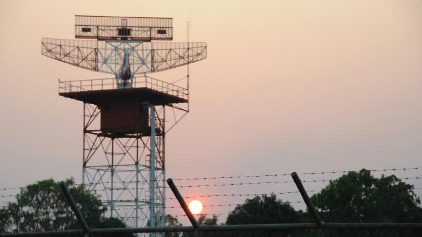 Air traffic control approach radar.
