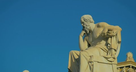 Greatest philosophers of antiquity Socrates and his disciple Plato reflect on the meaning of life in slow motion.