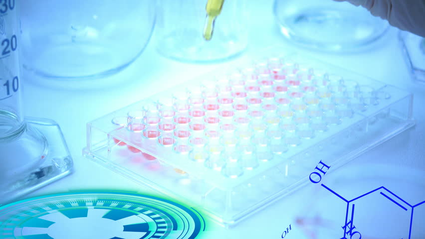 Scientist or doctor testing in laboratory for analysis or researching #34623724