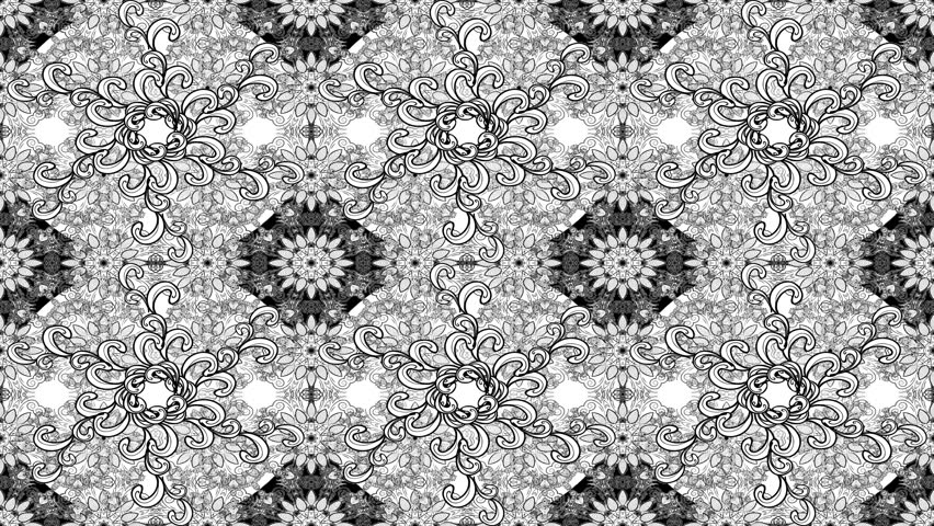White and black composition motion pattern | Shutterstock HD Video #34658704